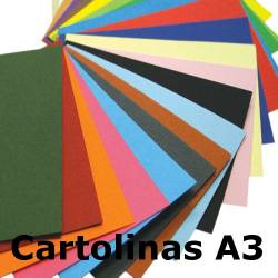 Cartolinas A3 coloridas Guarro