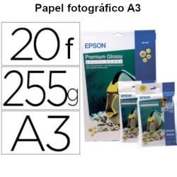 Papel fotográfico A3 Epson Premium Glossy de 255gr