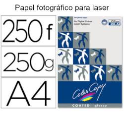 Papel color copy glossy A4 de 250 gr