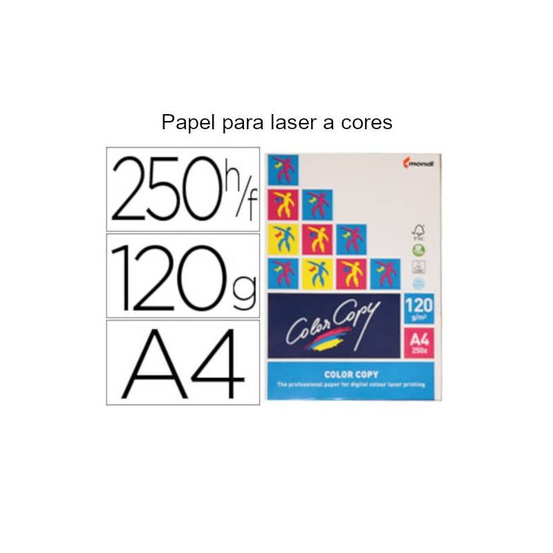 Papel Color Copy brilhante A4 de 120 gr
