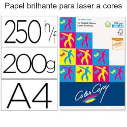 Papel Color Copy A4 brilhante de 200 gr