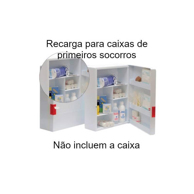 Recargas para caixas de primeiros socorros