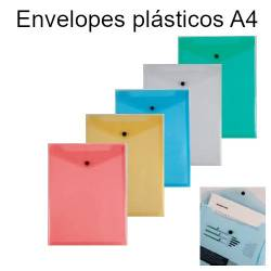 Envelopes saco plásticos coloridos A4