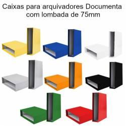 Caixas para arquivadores documenta lombada de 75mm