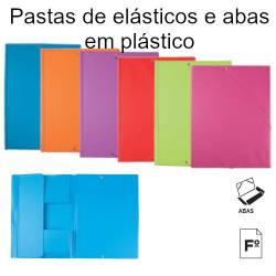 Pastas de elásticos com abas coloridas em plástico