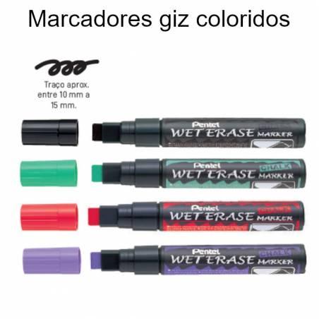 Marcadores giz coloridos grossos