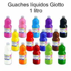 Guaches líquidos Giotto 1 litro
