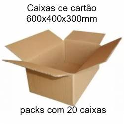 Caixas de cartão 600x400x300mm