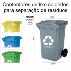 Caixotes para separação de lixo