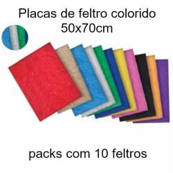 Feltros coloridos com 50x70cm