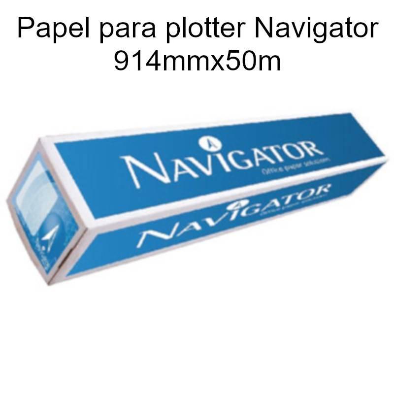 Papel para plotter Navigator 914mmx50m