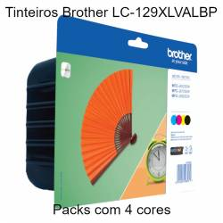 Pack 4 tinteiros Brother LC-129XLVALBP