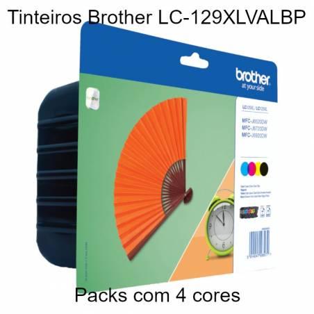 Pack 4 tinteiros Brother LC-129XLVALBP