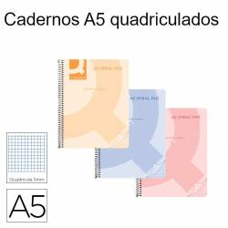 Cadernos quadriculados A5 Spiral Pad