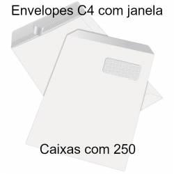 Envelopes C4 com janela