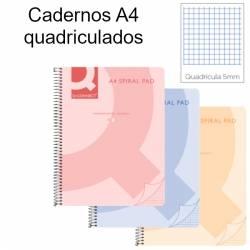Cadernos quadriculados A4 Spiral Pad