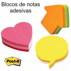 Blocos post it com formas