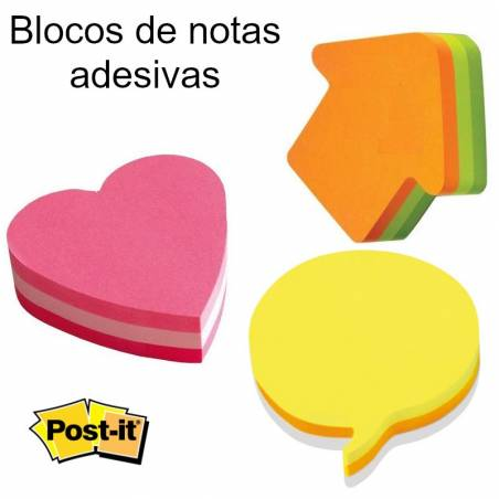 Blocos post it com formas