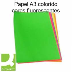 Papel A3 colorido cores fluorescentes
