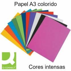 Papel A3 colorido cores intensas