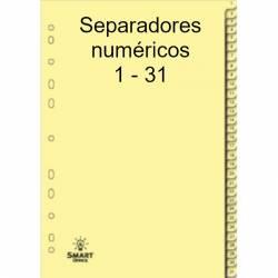 Separadores numéricos 1-31 em cartolina