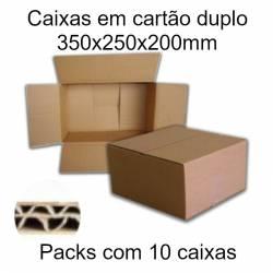 Caixas de cartão duplo 350x250x200mm