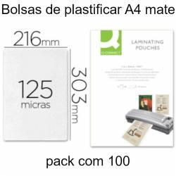 Bolsas de plastificar mate A4 125 microns