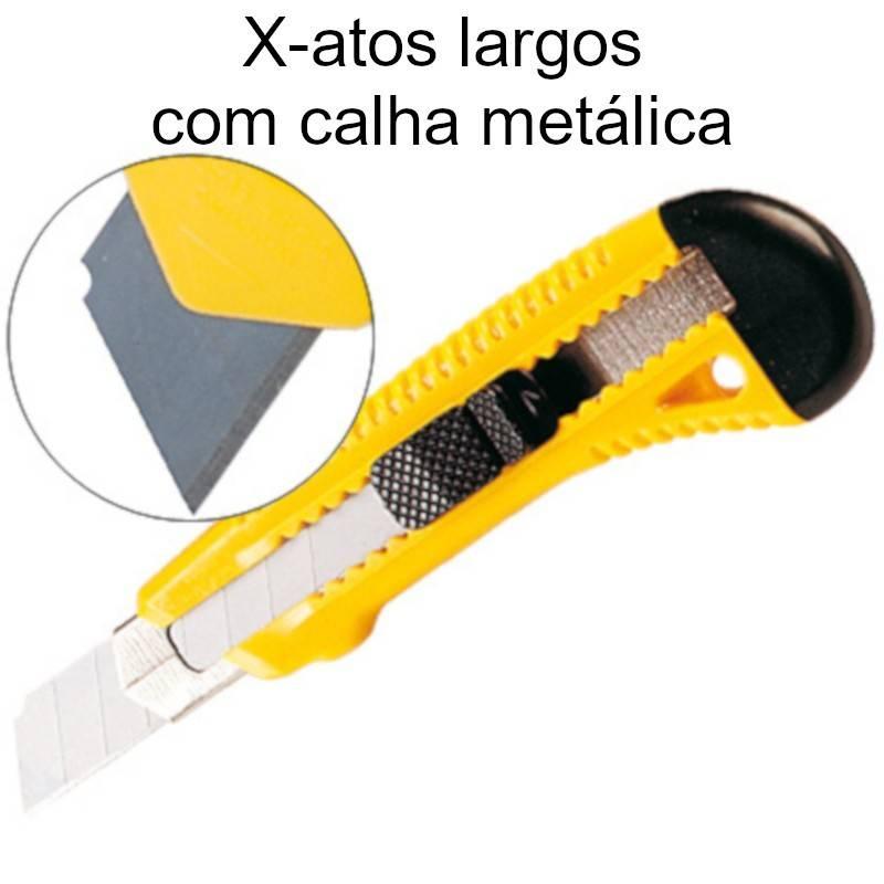 X-atos largos com calha metálica