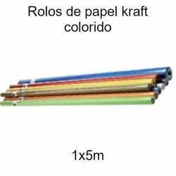 Rolos de papel kraft colorido