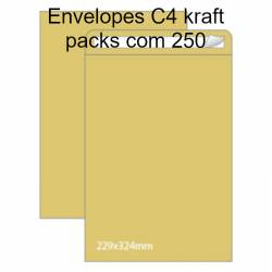 Envelopes C4 kraft