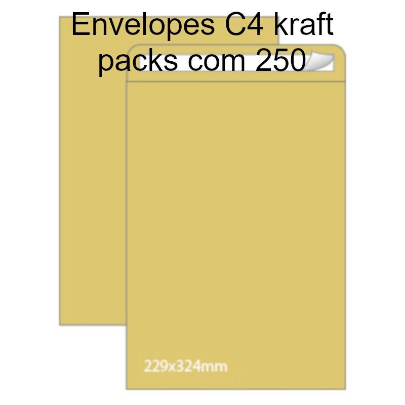 Envelopes C4 kraft