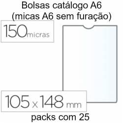 Bolsas catálogo A6 transparentes