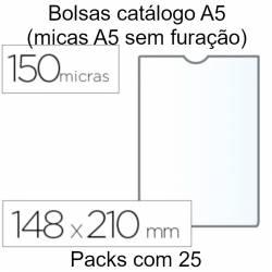 Bolsas catálogo A5 sem furação