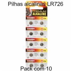 Pilhas LR726 alcalinas