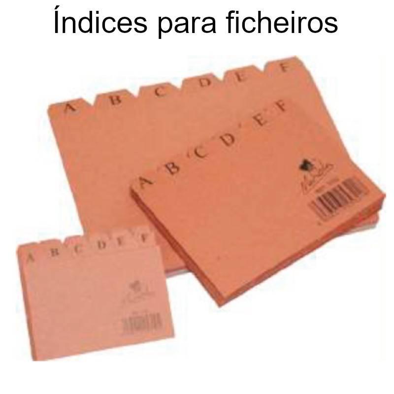 Índices alfabéticos para ficheiros