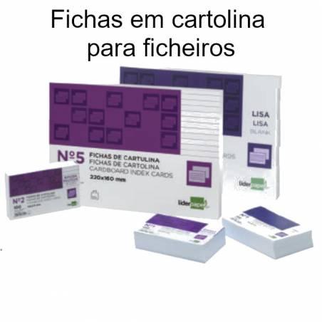 Fichas em cartolina para ficheiros