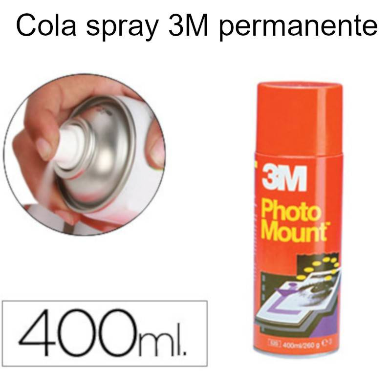Colas em spray 3M Photo Mount (lata vermelha)