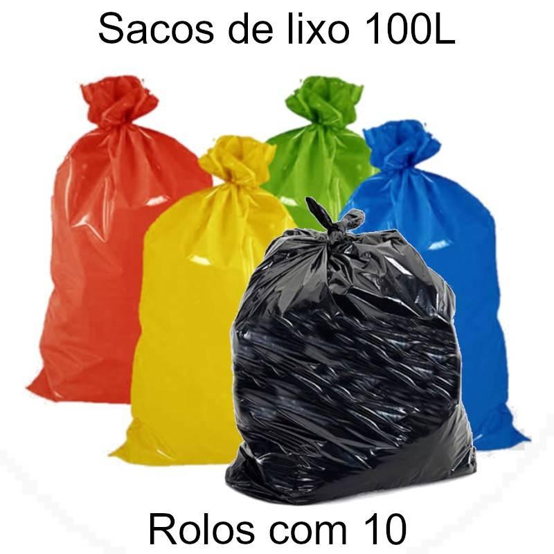 Sacos de lixo 100 L coloridos