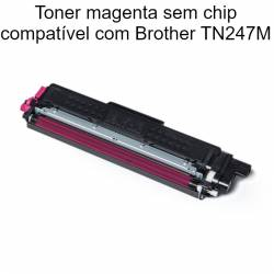 Toner magenta em chip compatível com Brother TN247M