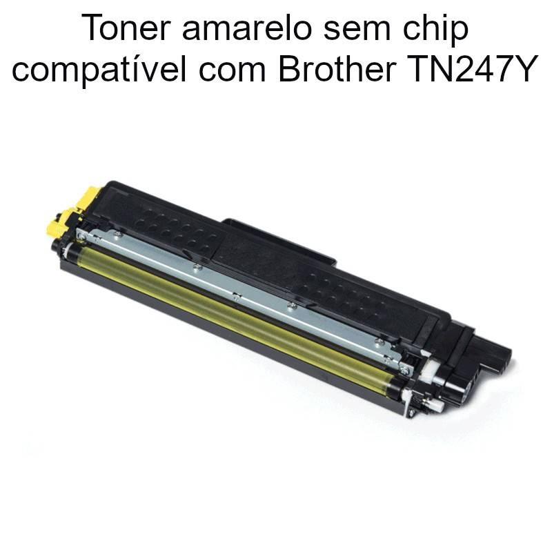 Toner amarelo sem chip compatível com Brother TN247Y