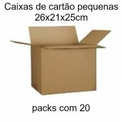 Caixas de cartão pequenas 26x21x25cm