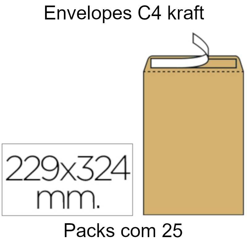 Envelopes Kraft C4 (229X324mm)