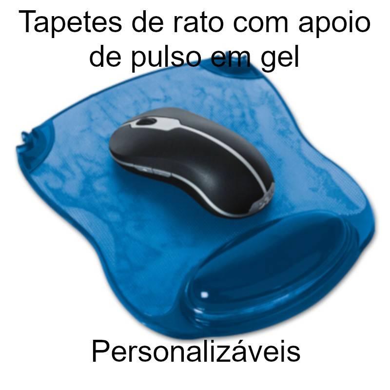 Tapetes de rato personalizáveis com apoio de pulsos em gel