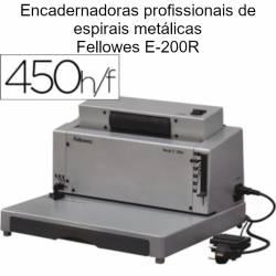 Encadernadoras profissionais para espirais metálicas Fellowes E-200R