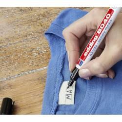Marcadores de roupa pretos Edding 8040