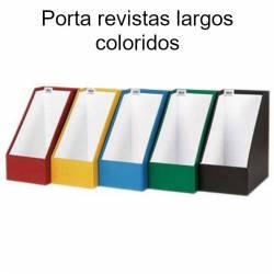 Porta revistas largos coloridos em cartão