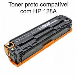 Toner preto compatível com HP 128A