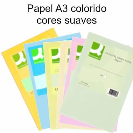 Papel A3 colorido - cores suaves