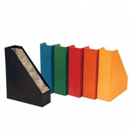 Porta revistas em cartão colorido
