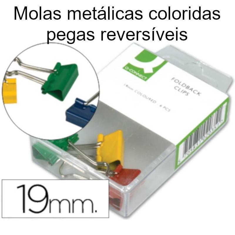 Molas metálicas coloridas com pegas reversíveis
